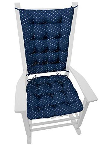 Barnett Products Rocking Cushion Brocade - Foam Seat and Back Diamond Pattern