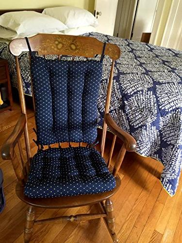 Barnett Products Chair Cushion Set Brocade - Latex Foam and Back - Diamond