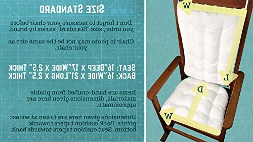 Barnett Products Rocking Cushion Brocade Foam Diamond Pattern
