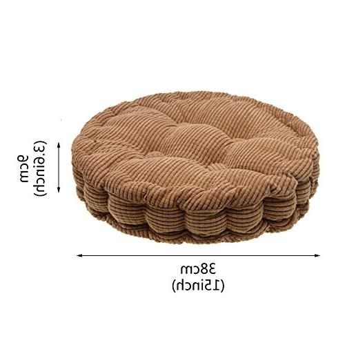 Saim Round Chair Pad Tatami Indoor Outdoor Pad,Brown