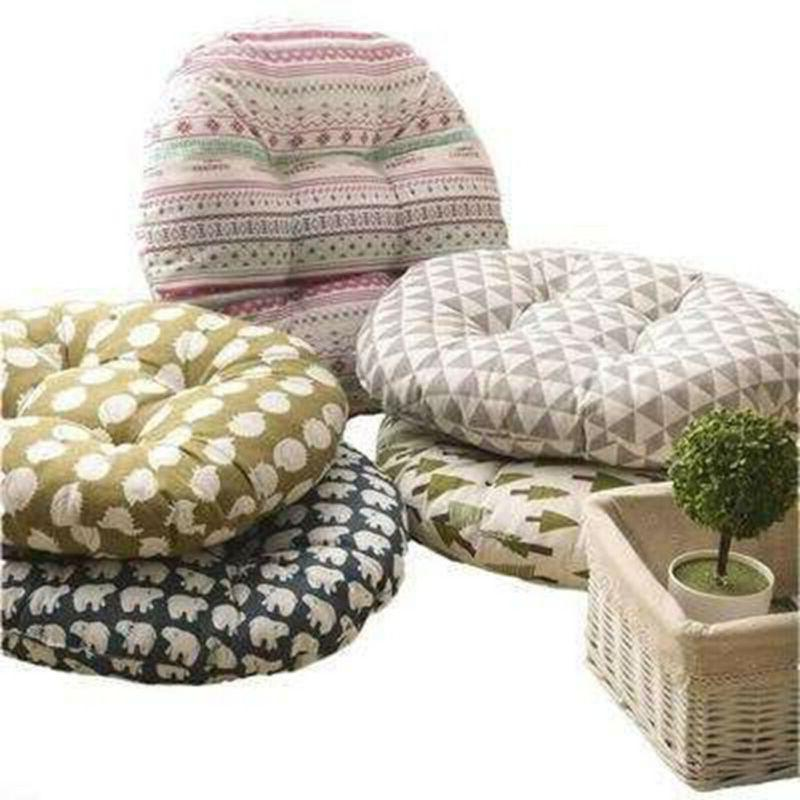 Round Shape Silk Cotton Pillow Car Soft Sofa Cushion