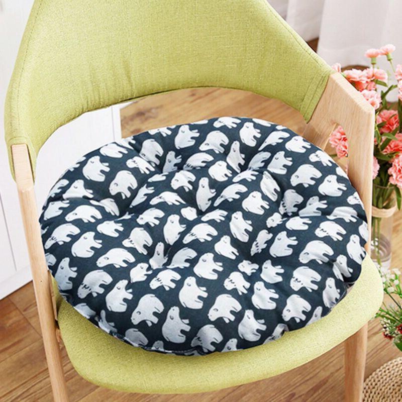 Round Cushion Silk Pillow Car Cushion