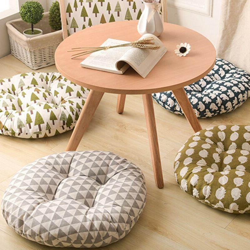 Round Shape Seat Silk Pillow Cushion