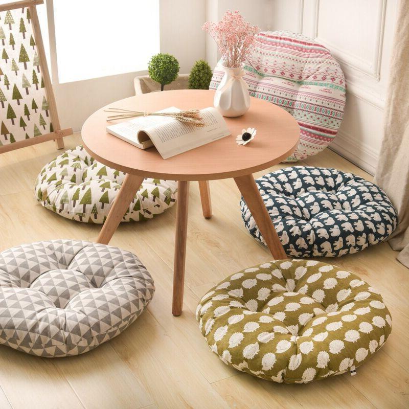 round shape seat cushion silk cotton tatami