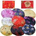 roundshape cover chinese rayon brocade floor chair