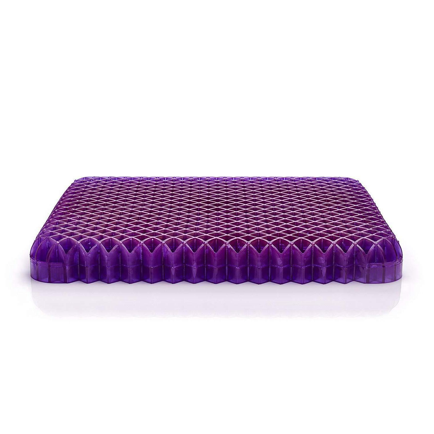 Royal Purple Double Cushion Seat For Office Relieving Back
