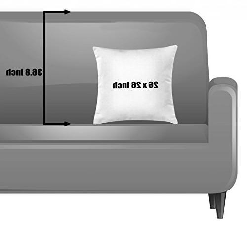 Ambesonne Seashells Throw Pillow Cushion on Honeymoon Theme, Square Accent Pillow Case, 26