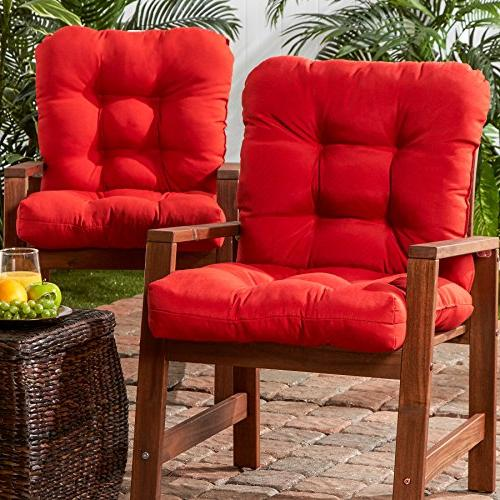 Greendale Home Outdoor Seat/Back Chair of 2, Salsa Red