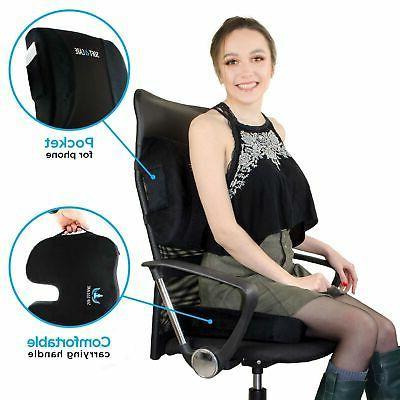 SOFTaCARE Cushion Lumbar Support Set Color Black