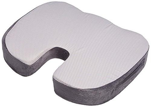 SOFTaCARE Seat Coccyx Orthopedic Lumbar Support Pillow, Set of Gray