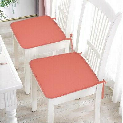 Home Chair Seat Tie On Pads Cushion Kitchen Dining Comfy