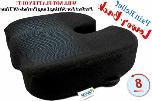 Seat Cushion Chair Orthopedic Relief Sciatica Pillow