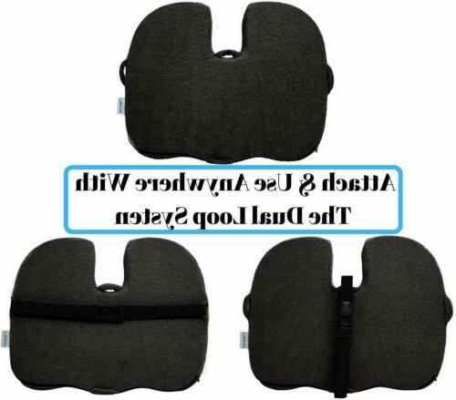 Seat Cushion Orthopedic Memory Pain Relief Sciatica Pillow