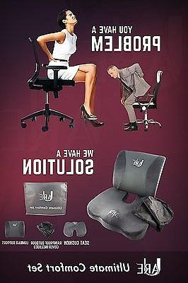 SET: Lumbar Support and for Office Car Seat Set