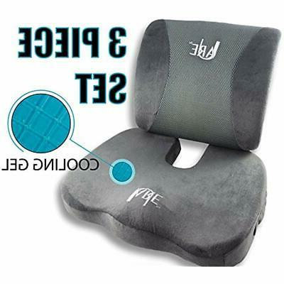 set lumbar support pillow seat