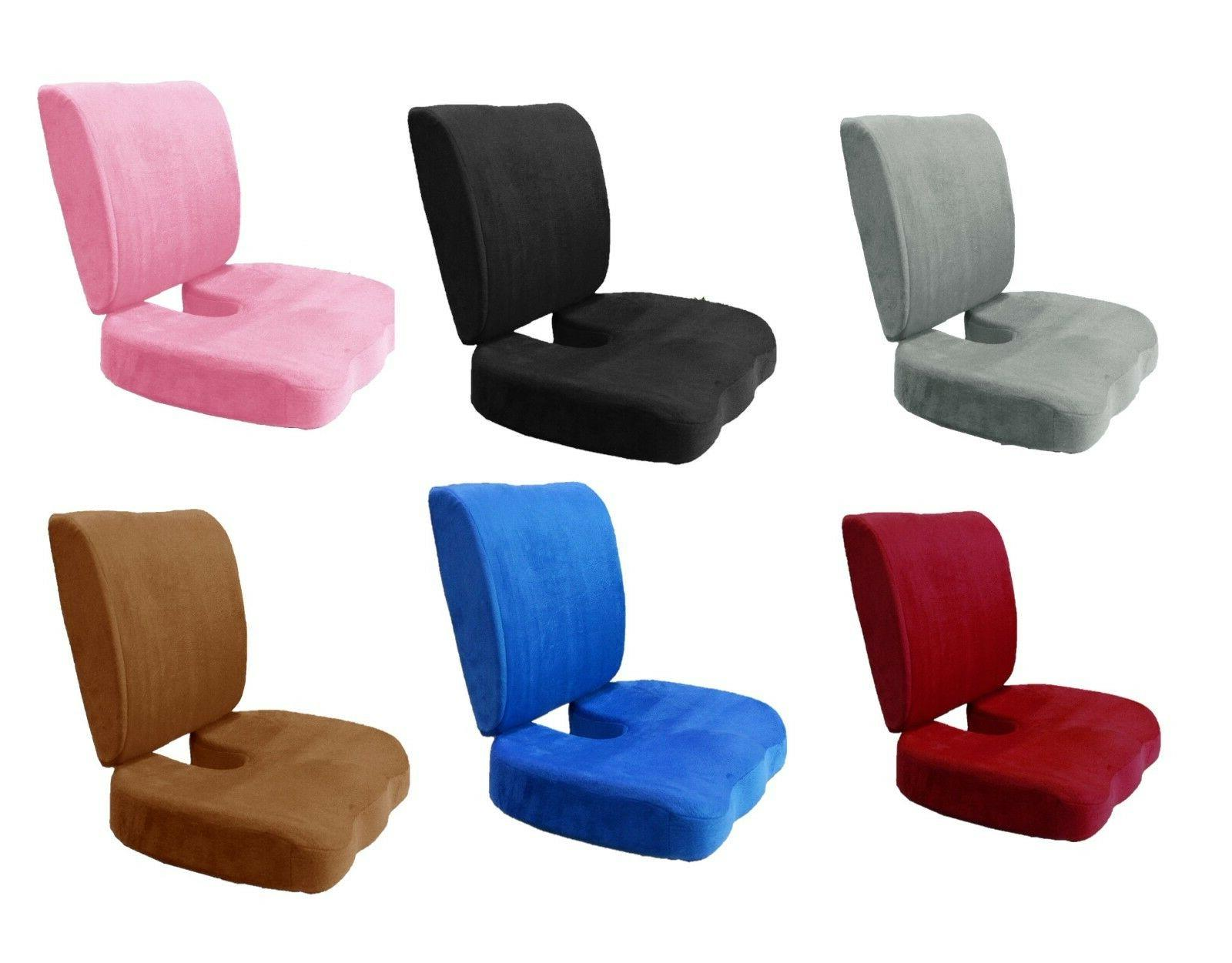 set memory foam lumbar cushion seat support