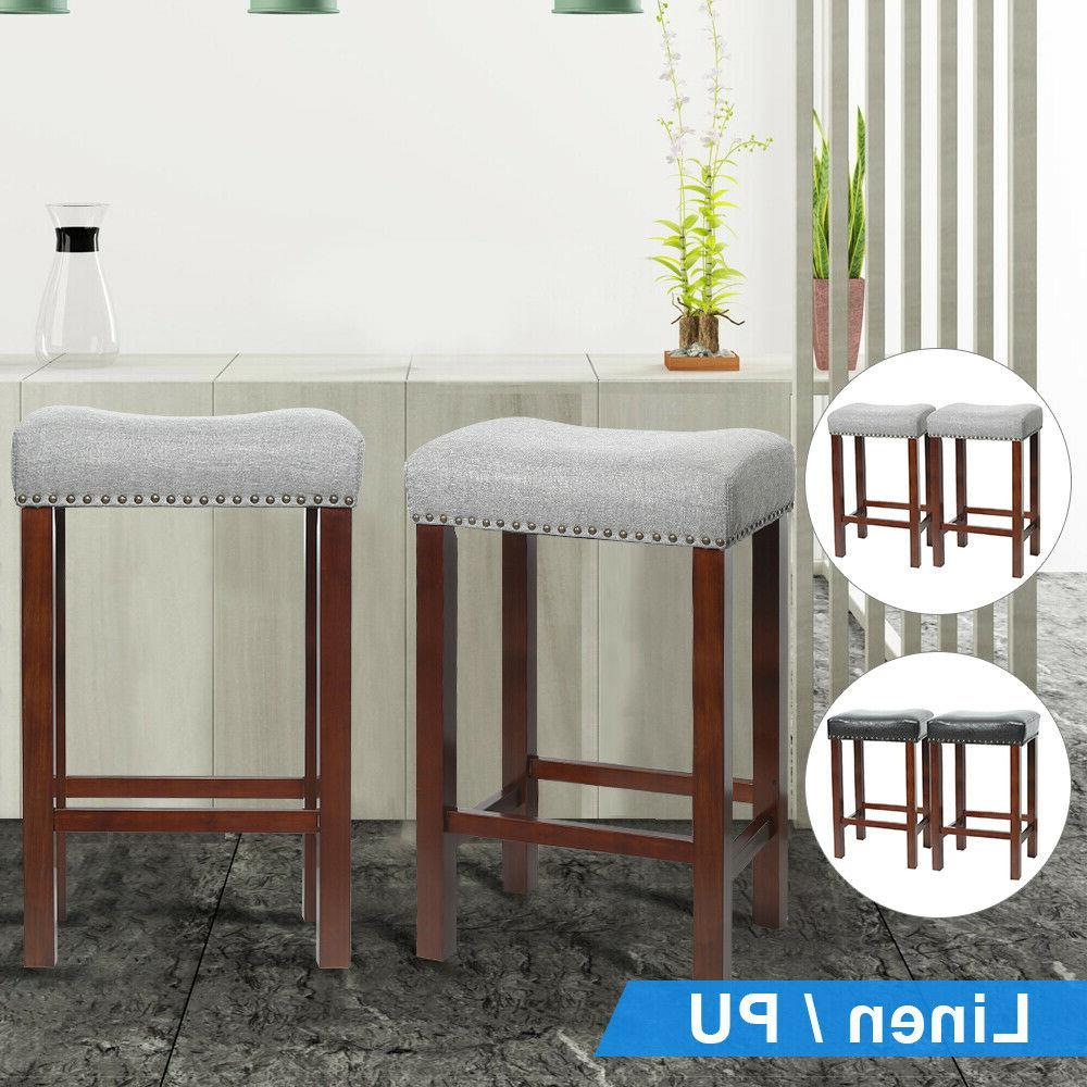 set of 2 bar stool wood legs