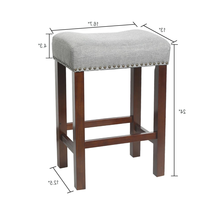 """Set 2 Bar Stools Room Saddle Seat Cushion 24"""""""