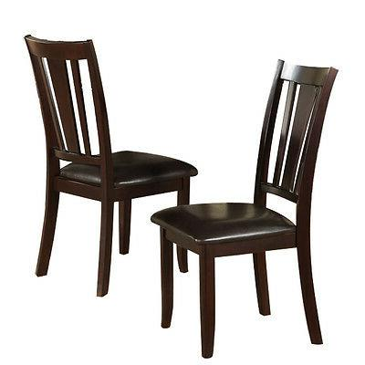 set of 2 dining side chair faux