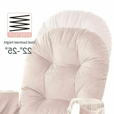 Set Glider Chair Replacement Pink Cushion Washable