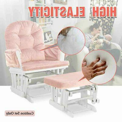Set Chair Seat Replacement Pink Cushion Set Washable