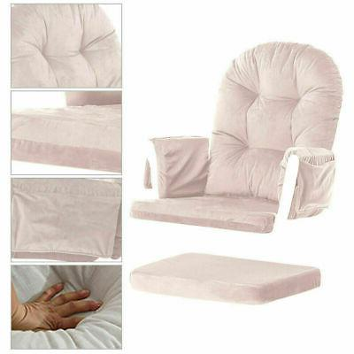 Set 2 Glider Chair Ottoman Seat Replacement Cushion Washable