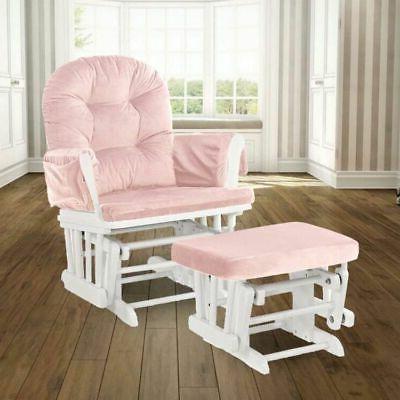 set of 2 glider chair ottoman seat
