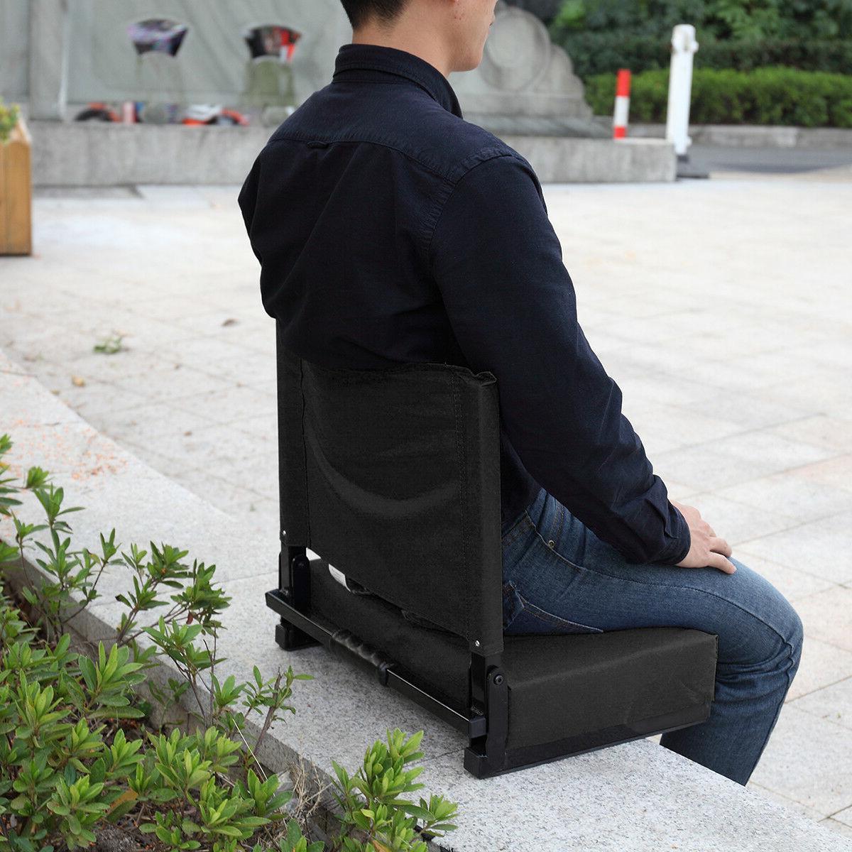Folding Stadium Chair Bleacher Cushion Sport Grandstand Ultr