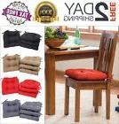 Set of 4 Chair Cushion Microfiber Soft Pad Seat Indoor Outdo