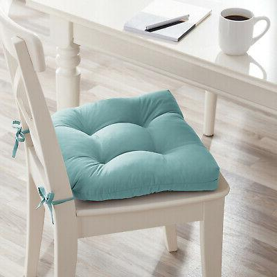 Set Chair Cushion Seat 14.5 Ties Outdoor