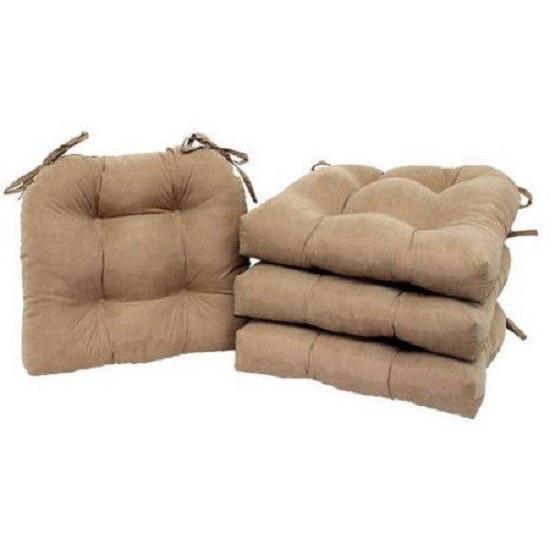 set of 4 chair cushion seat pad
