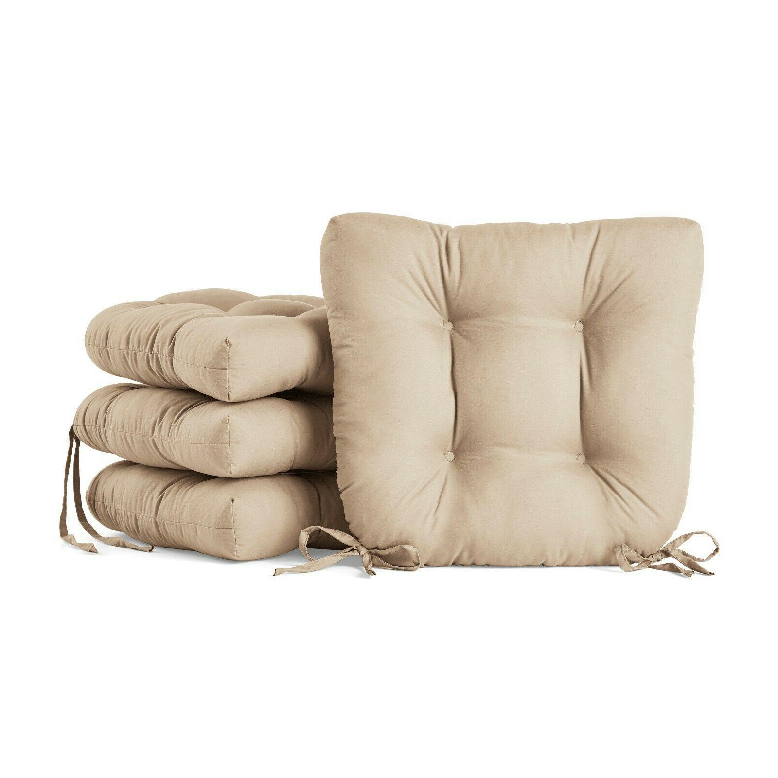 Set 4 Chair Cushion Furniture