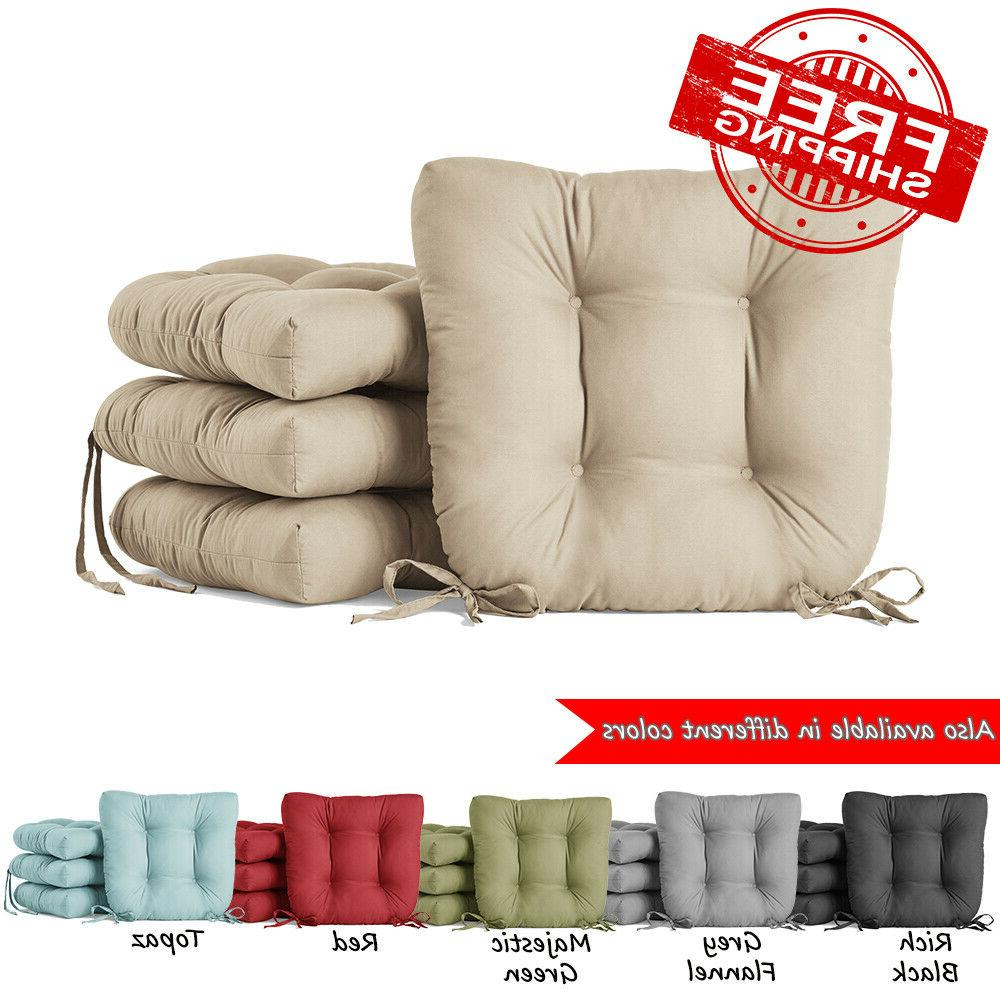 set of 4 dining chair cushion seat