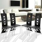 Set of 4 Dining Chair PVC Padded Seat High Back for Home Kit
