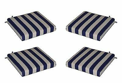 set of 4 outdoor navy blue white