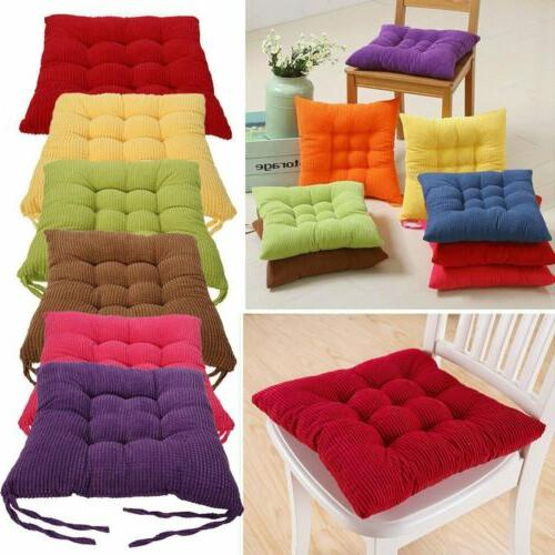 Set of 4 Pads Dining Room Garden Kitchen Chair Cushion