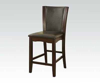side chairs espresso finish cushion seat