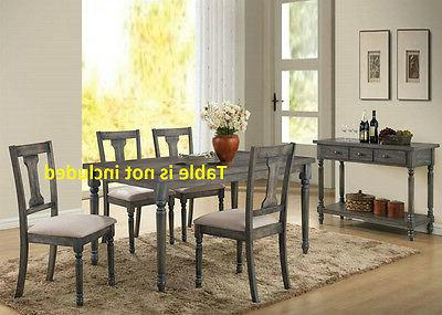 Simple Acme Dining Chairs Weathered Blue Washed Cushion Seat