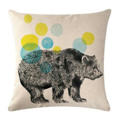 Sketch Animal Series Decor Sofa Cushion Throw Pillowcase