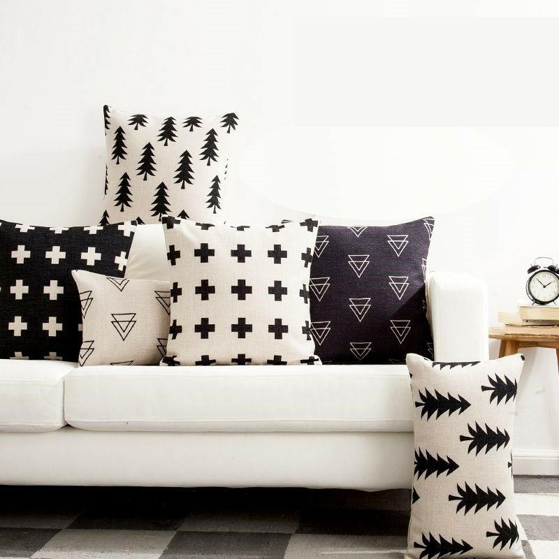 Sofa Pillow Case Cushion Cover Nordic Car Seat Geometric Hom