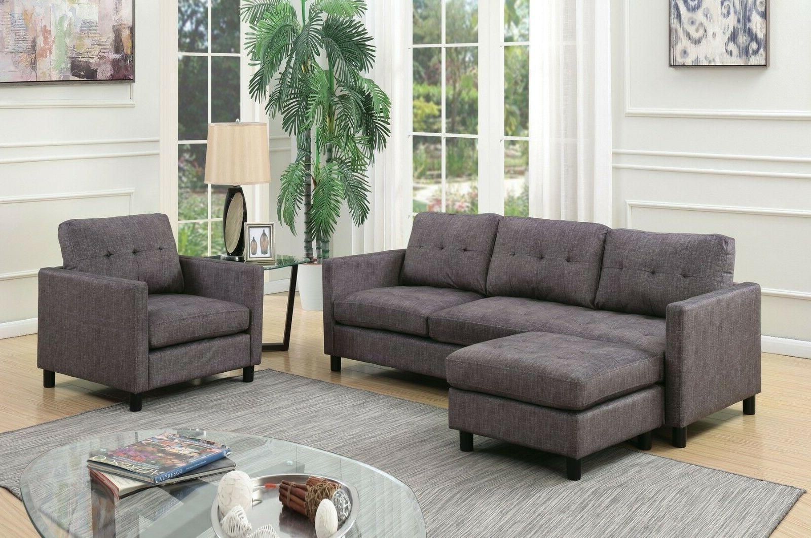 sofa w ottoman chair modern style living