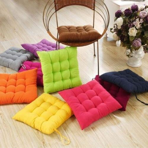Square Tie On Cushion Soft Seat Chair Pads Indoor Outdoor Ho