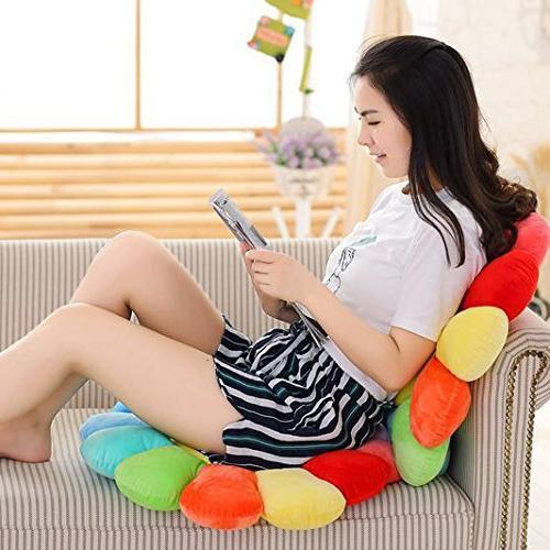 "M MOCHOHOME Plush Emoticon Sunflower Round Seat Cushion Office x 20"", Nose"