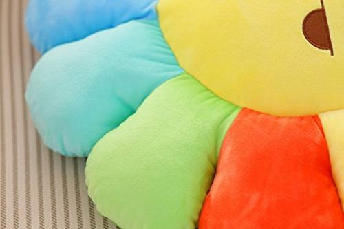 "M Plush Smiley Sunflower Cushion Office Pad Cushion Pillow - x 20"","