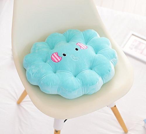 """M Plush Cushion Office Chair - x 16"""", Pink"""