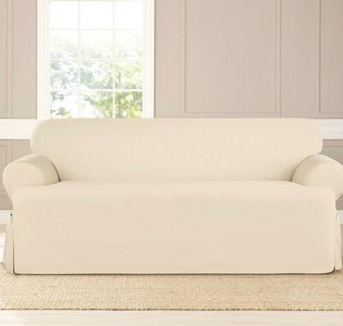 solid t cushion sofa slipcover cotton duck