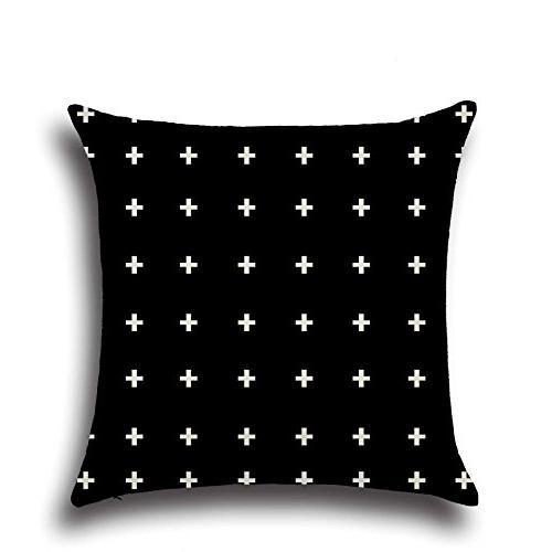 MOWANG Pillow Case Home Decorative Throw Pillow X Patterns 6Packs