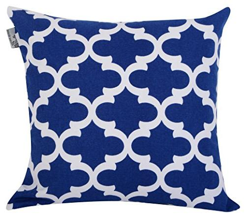 ACCENTHOME Accent Home Printed Cushion Pillow for Chair Back 18x18 in Color