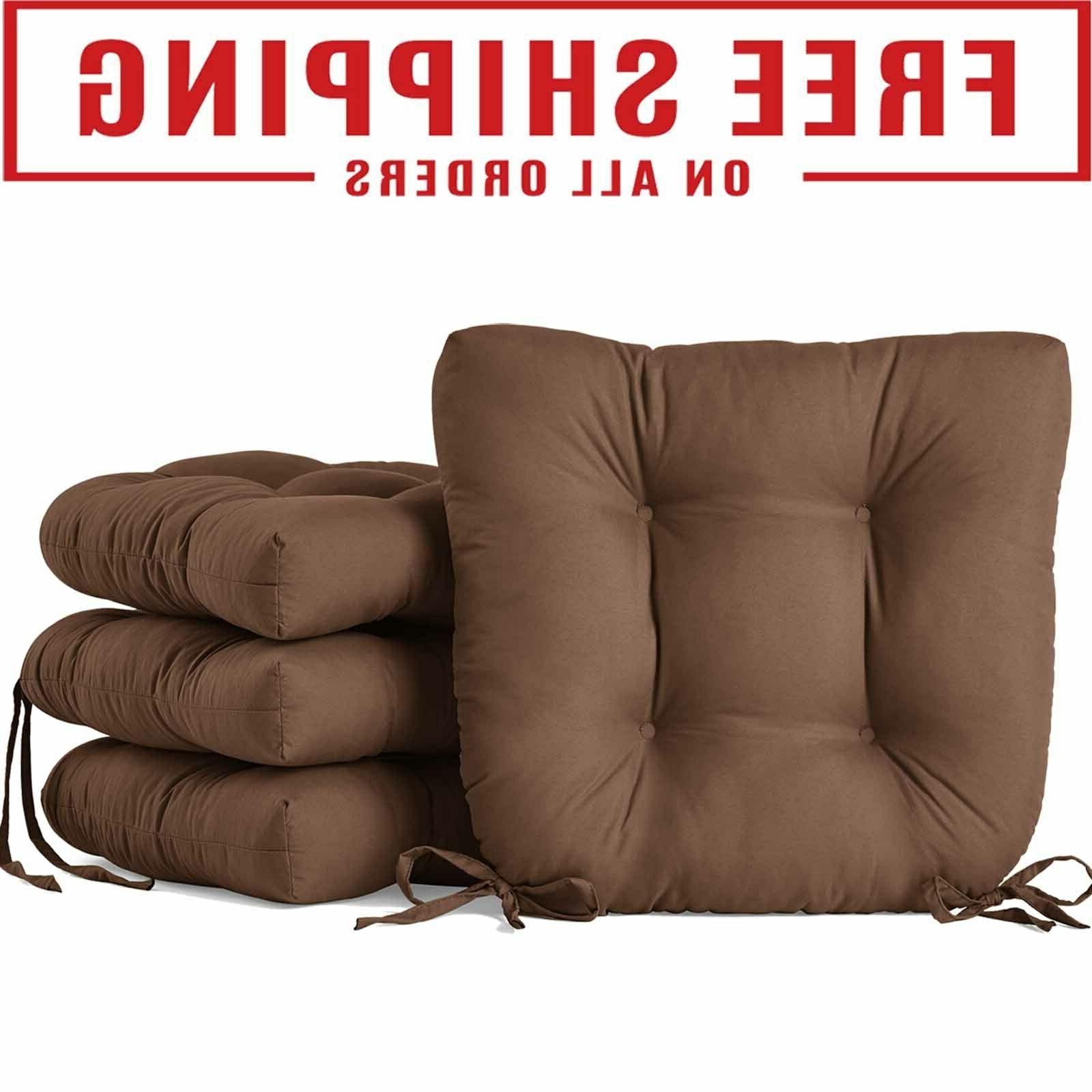 square seat tuft cushion pads w ties