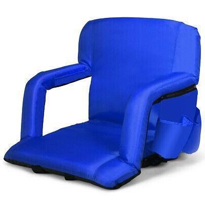 Stadium Seat Bleachers Portable Chair Reclining w/Backs & Pa